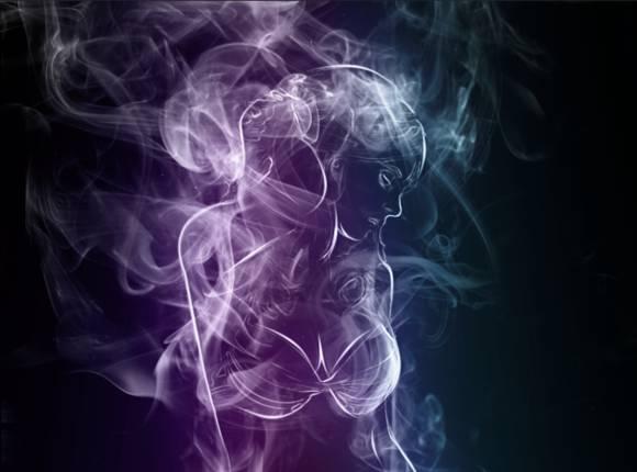 PS教程 真 女神,可望而不可即的梦幻烟雾美女合成