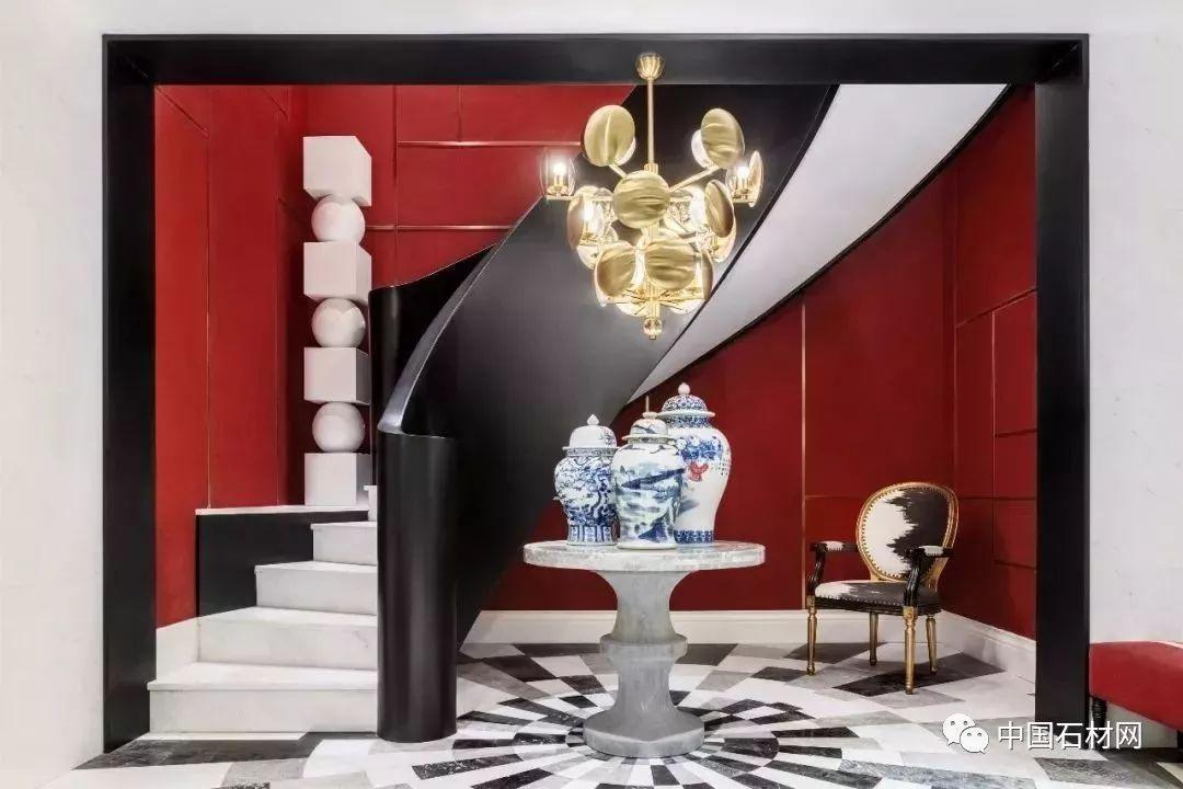 张家港公寓样板房——大理石、布艺、金属混搭的时尚空间