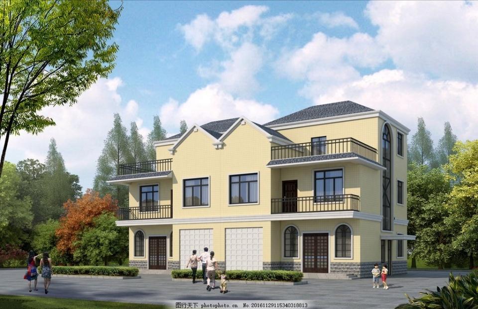 二层法式别墅设计图