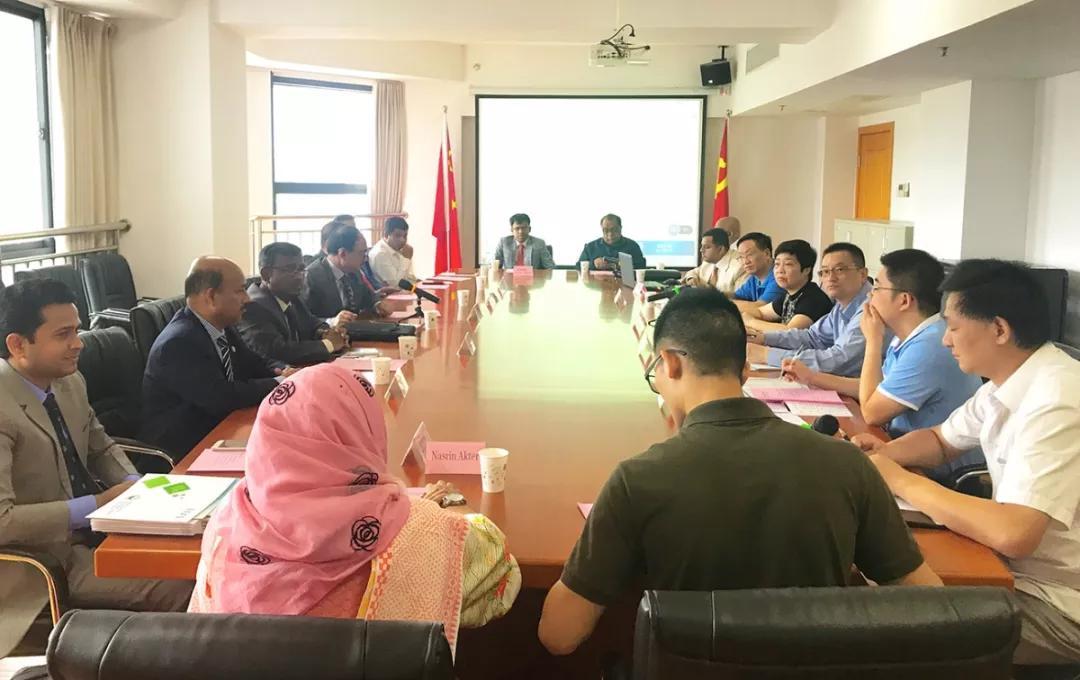 福建省商务厅领导会见孟加拉国经济区管理局经贸代表团一行