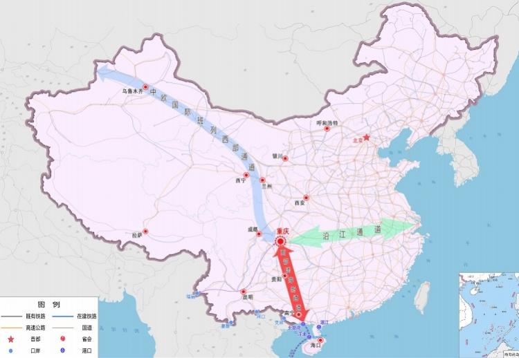 西部陆海新通道建设三步走,重庆内陆国际物流分拨中心明年建成