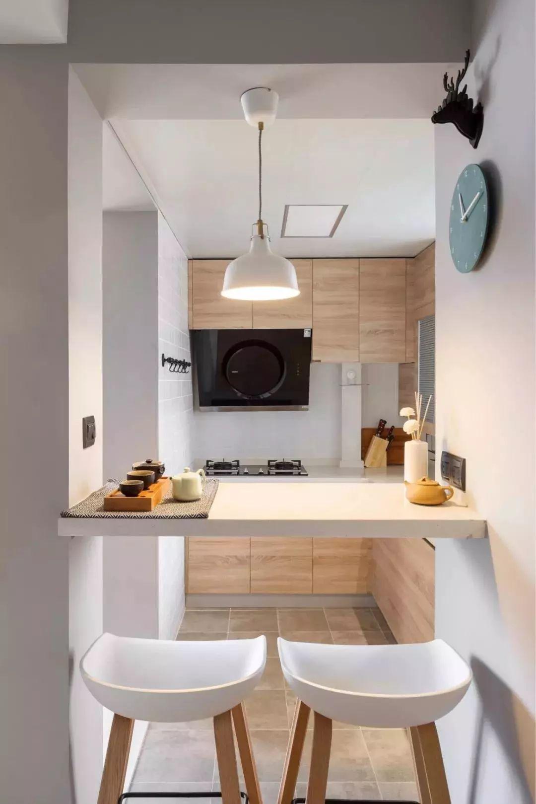 吧台的n种设计方案,休闲,隔断,用餐都可以!图片