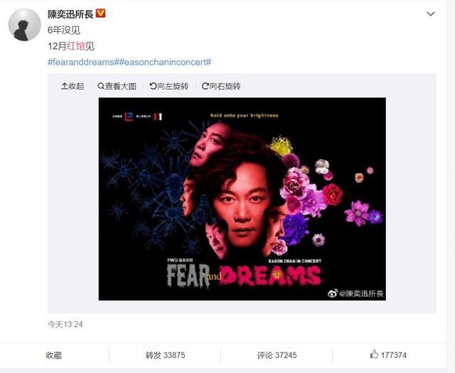 陈奕迅12月红馆官宣,你最期待哪首歌?