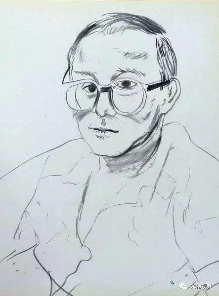 大卫 霍克尼素描