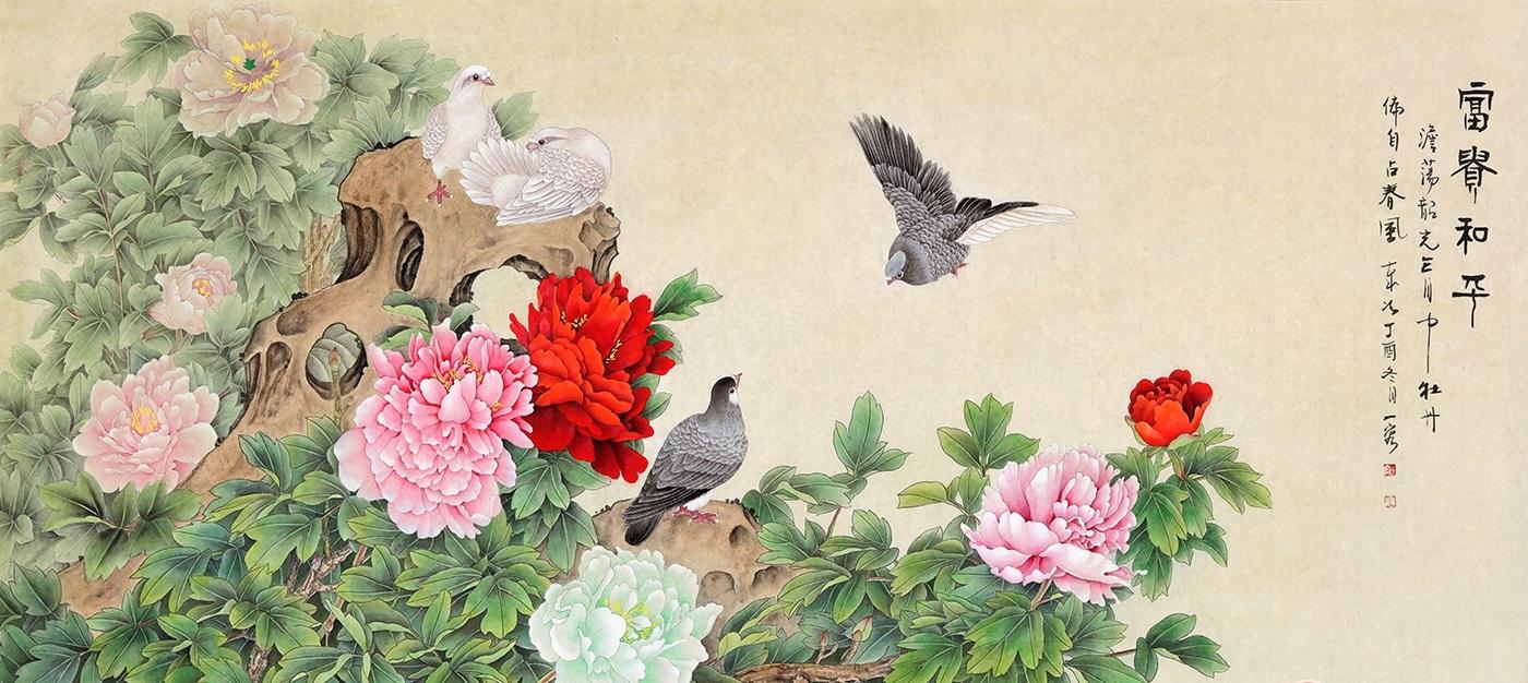 打开一看 是一幅画 内容是 天上两只鸽子_学识网