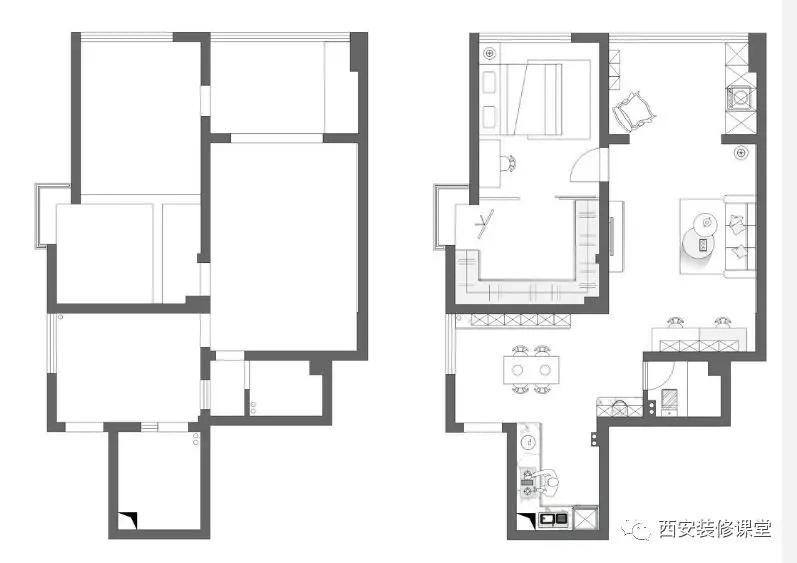 开放式厨房北欧【80m²北欧清爽,开放式厨房,步入式衣帽间,想要的都
