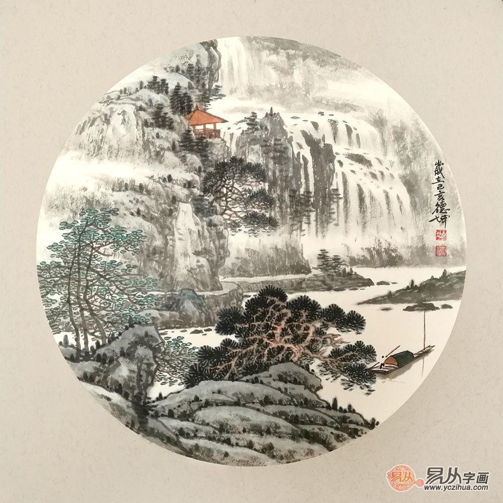 空灵而带有禅意的山水画小品,中式装饰画首选