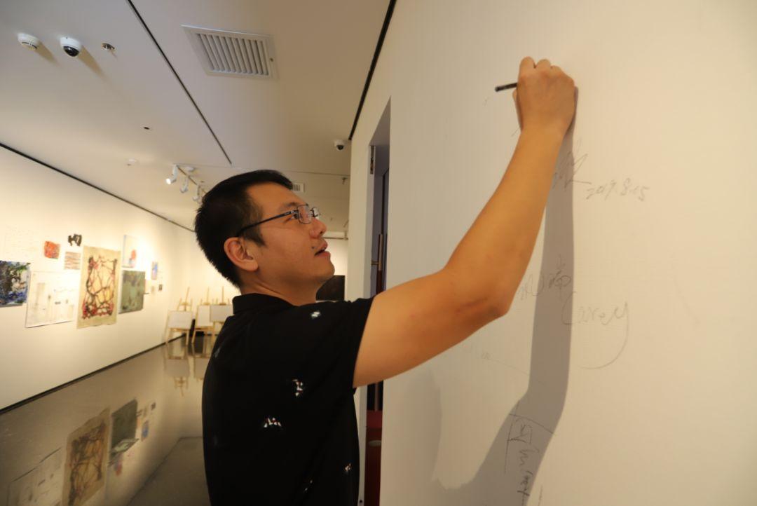 """""""五个课题的报告:第二期自由绘画非具象研究工作坊结业展""""于光语美术馆开幕(图34)"""