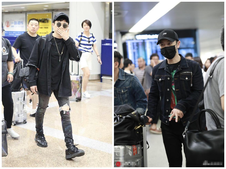黄晓明苏有朋亮相机场 网友:霸道总裁和小跟班的区别