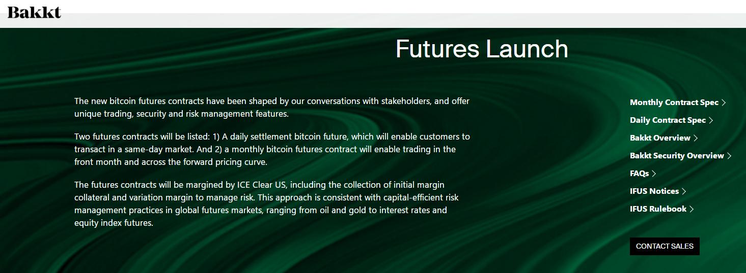 Bakkt将于9月推出全球首个实物交割的比特币期货合约