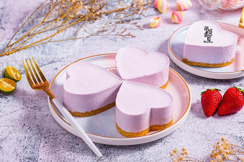 蓝莓酸奶慕斯,免烤箱,零失败!