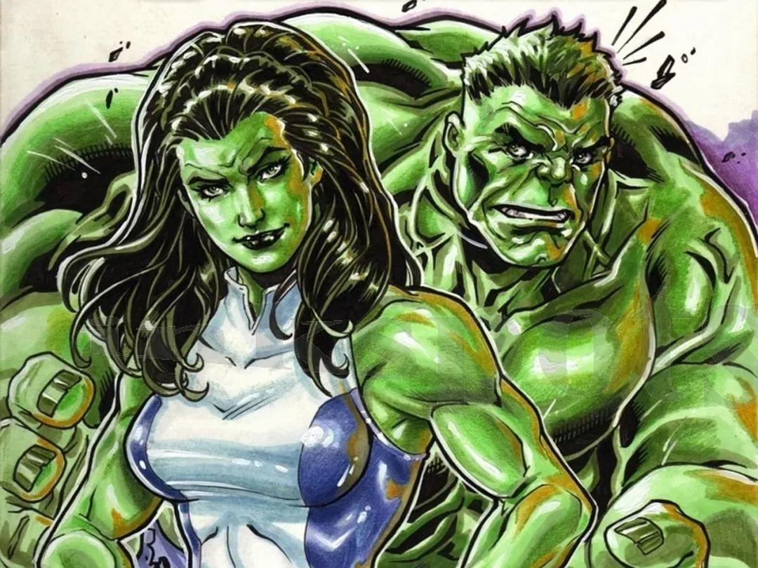 """女绿巨人变身过程_超级英雄""""男变女"""",究竟是怎么回事?_漫画"""