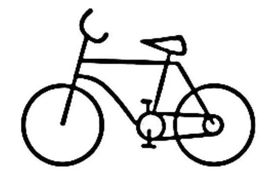 自行车简笔画 自行车简笔画