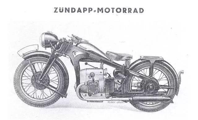"""德国""""ZUNDAPP K500""""型摩托车"""