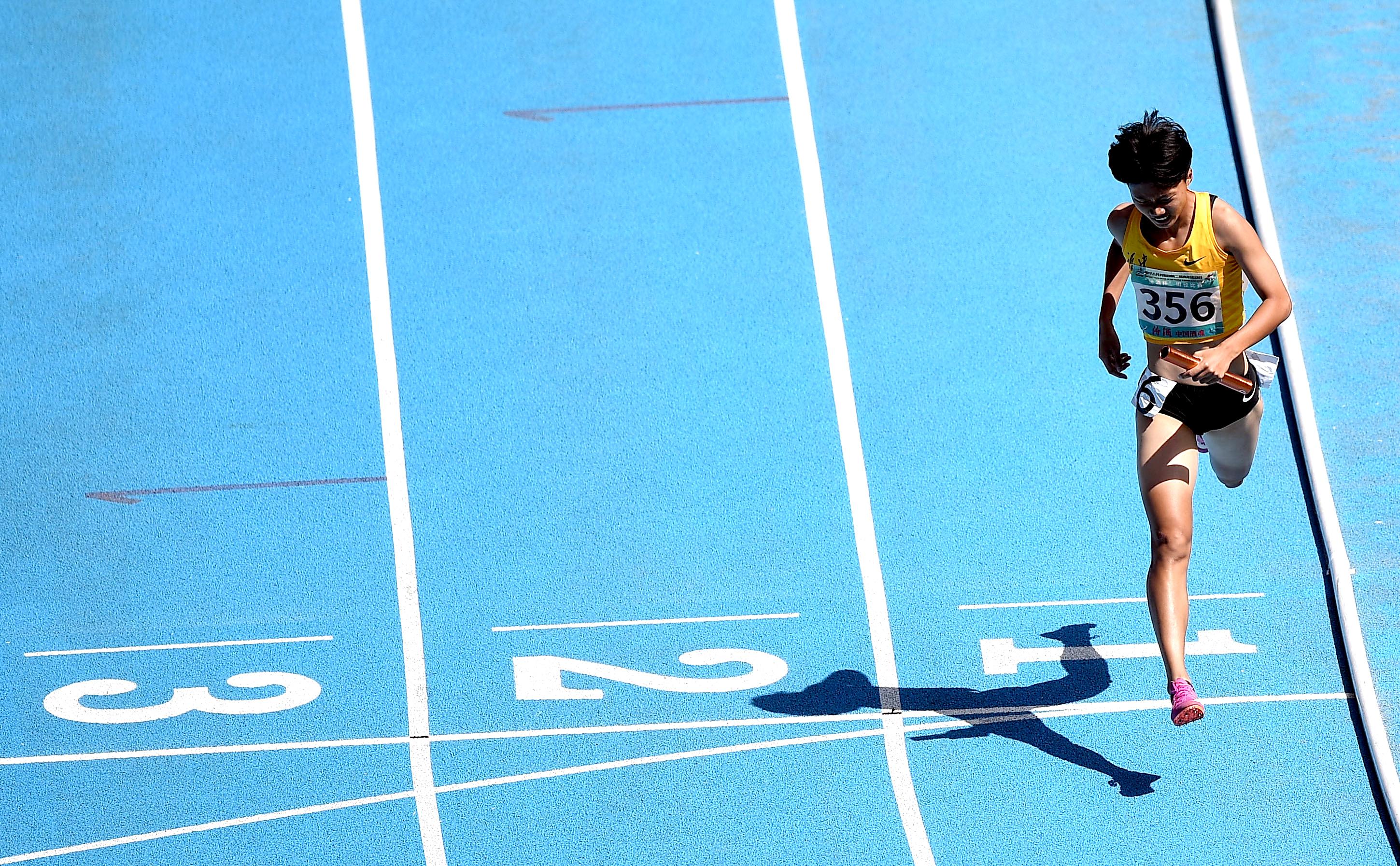 田径——体校甲组女子4X400米接力决赛赛况