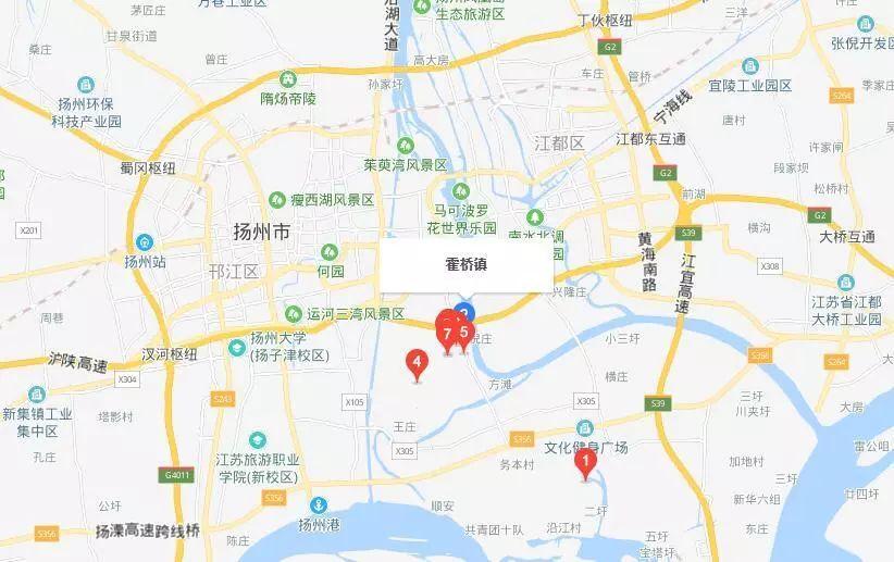 广陵经济开发区规划图
