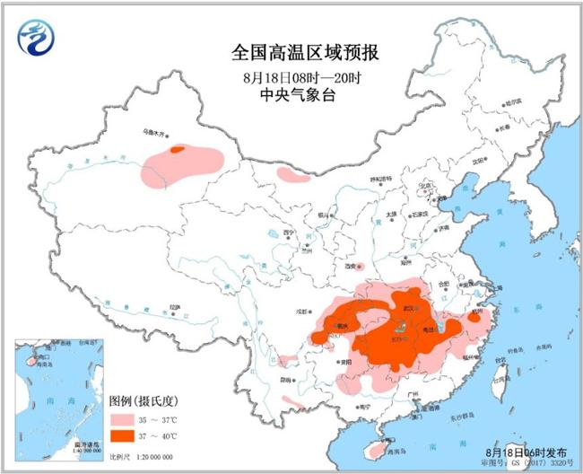 渝鄂湘赣等地暑意浓浓 四川盆地西部等地雨水渐起