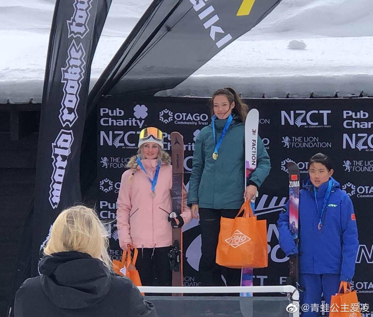 15岁谷爱凌滑雪赛夺冠,中国归化选手首金