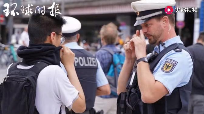 乱港分子现身科隆,德国警方当场要求摘面罩_德国新闻_德国中文网