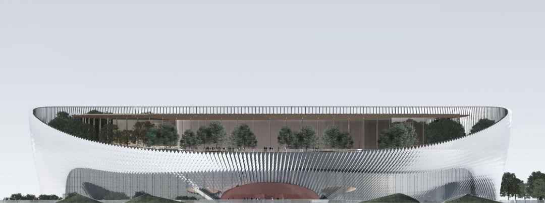 主入口區域立面圖 建筑表現turanca · 可持續設計 · 綠化元素作為圖片