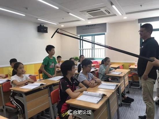 微电影《老师好》在新东方合肥学校贵潜校区开机
