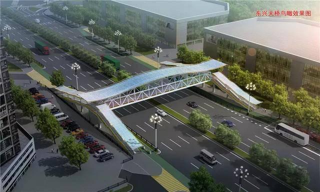 黄埔东路将新增5座人行天桥!效果图抢鲜看↘
