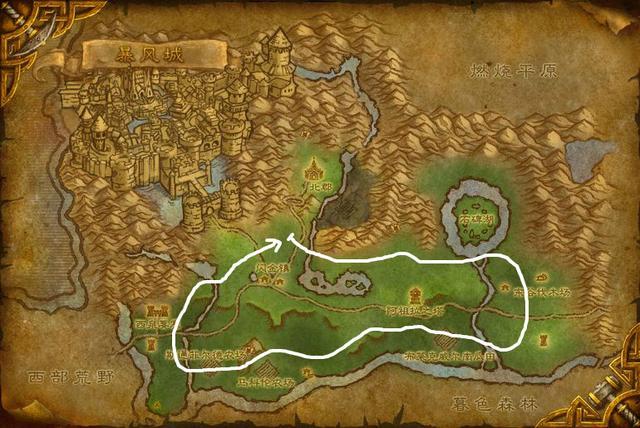 魔兽世界怀旧服草药分布图图片