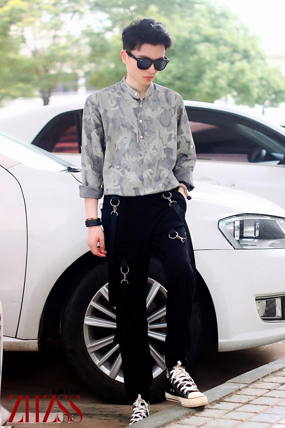 【男士】迷彩衬衫+飘带裤