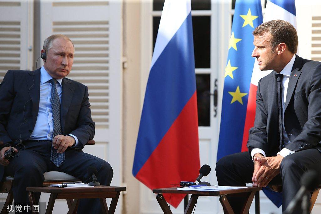 G7峰会在即,普京访问法国与马克龙举行会晤_法国新闻_法国中文网