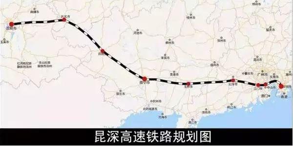 昆深高速铁路规划图图片