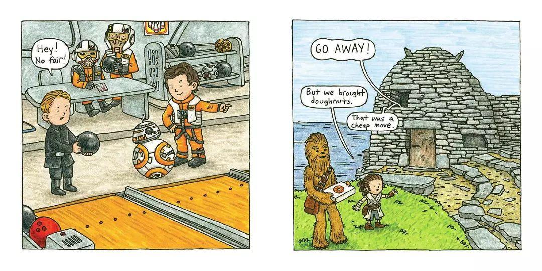 《星球大战》童书《蕾伊与小伙伴》预览图公布