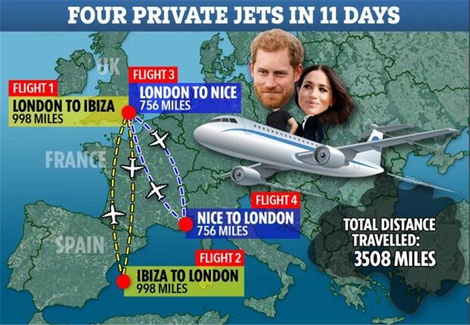 原创 梅根呼吁粉丝做好事却被群嘲,全因11天乘坐4架私人飞机
