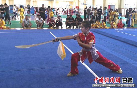 <b>定西市中小学生运动会武术比赛在临洮开赛</b>