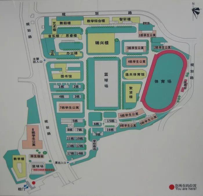 ▲长岗校区平面图