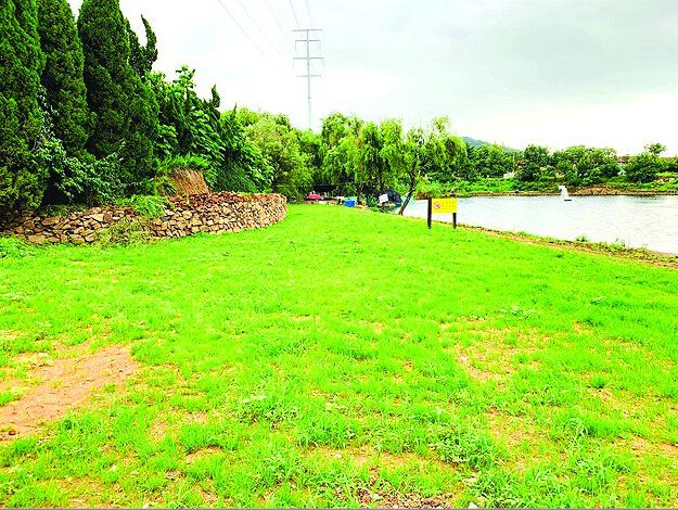 李沧古城顶遗址公园违建房被拆除 菜地被清理