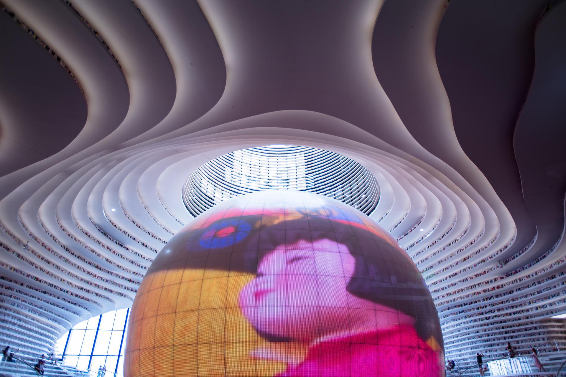 """天津建了一座""""中國最美圖書館"""",靠顏值成了網紅打卡地"""