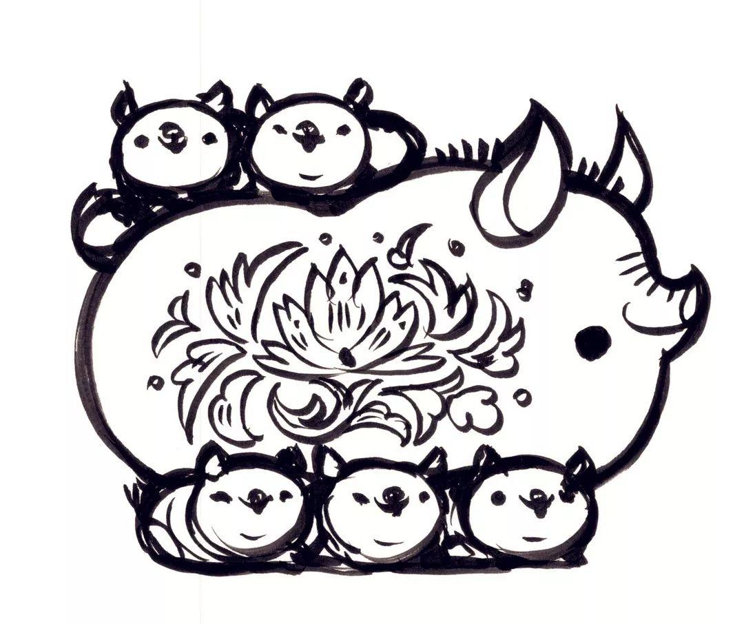 猪怎么画 - 高光网