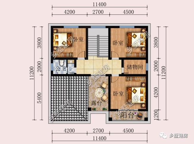 3米乘3米的卧室平面图