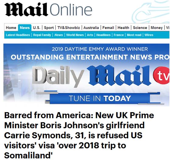 英首相女友赴美签证被拒 网友:川普又调皮了?