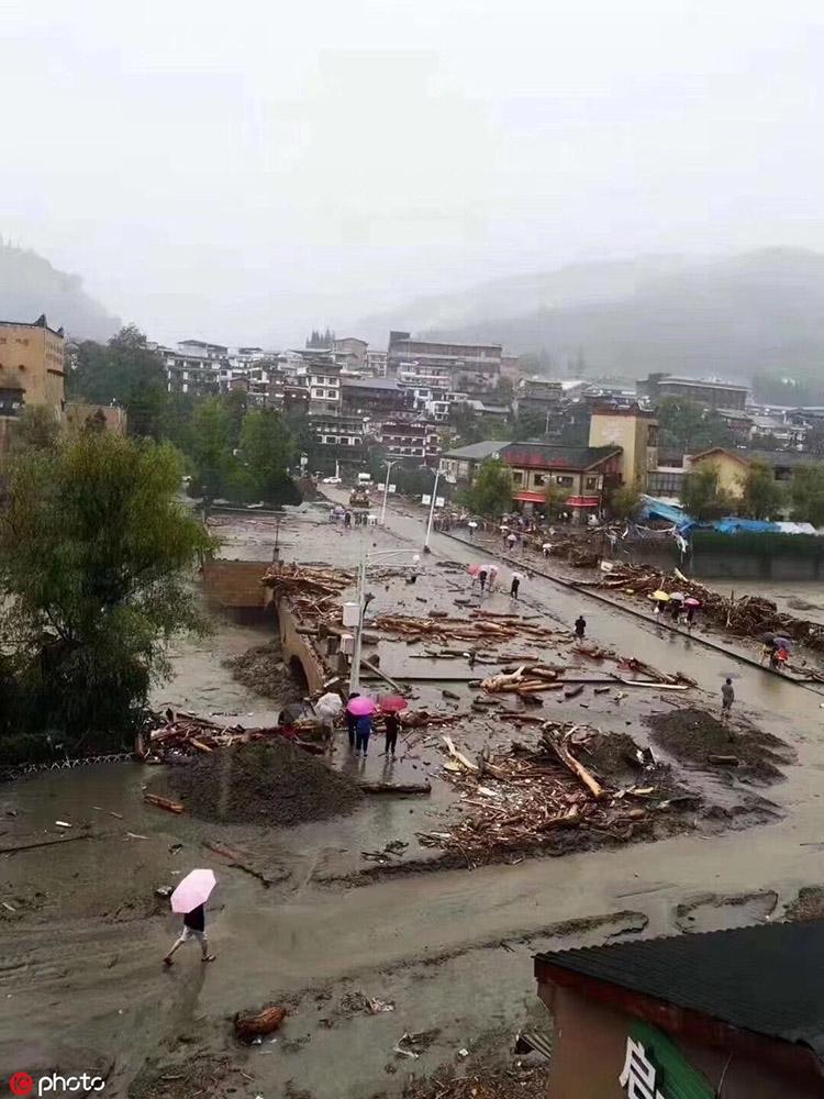 四川阿坝州攻略暴雨已致8人问道23人失联赚钱手游5开死亡灾害图片