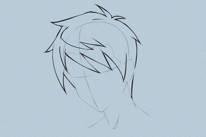 教你绘制男孩纸头发的绘制过程