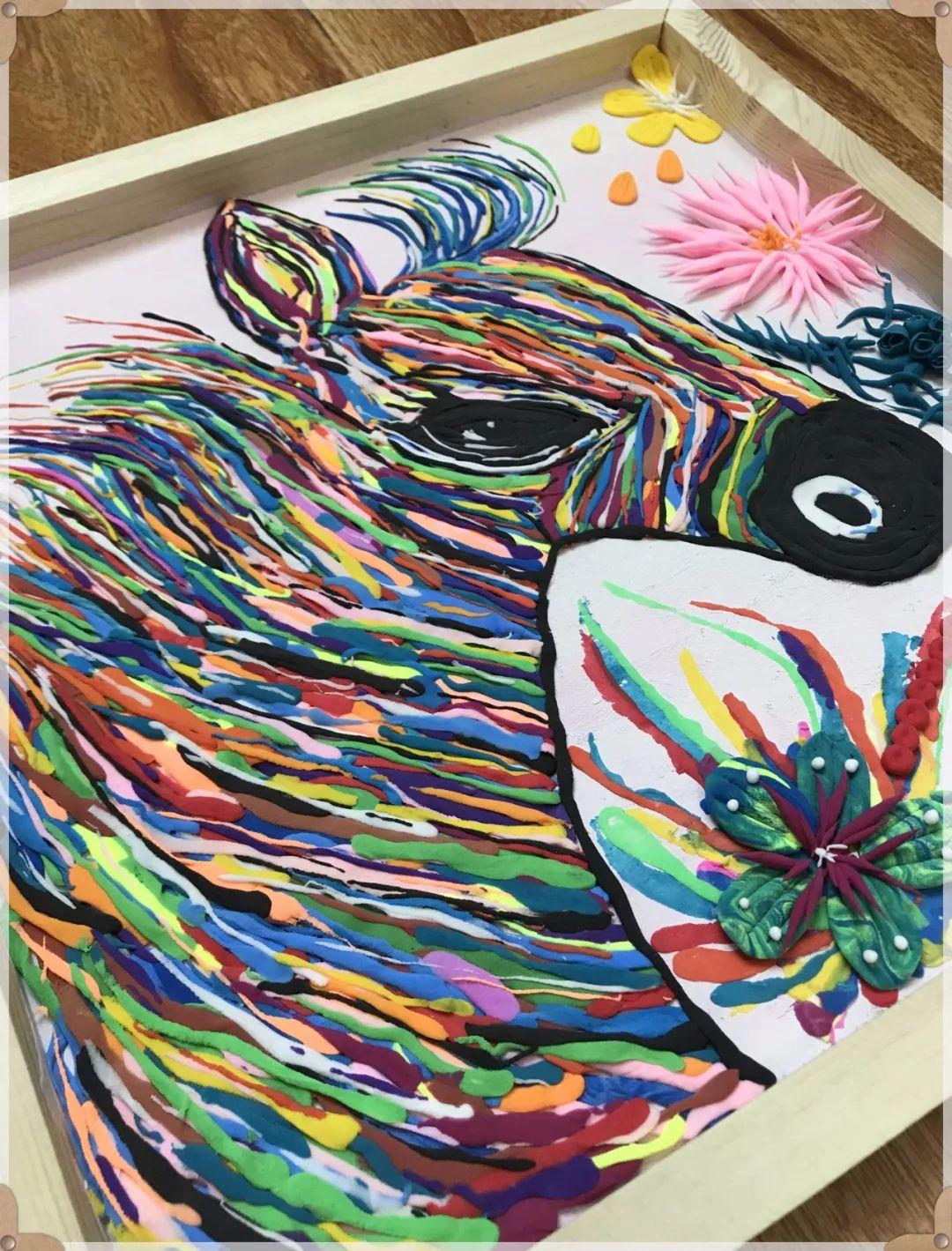 手工艺术分享 穿上彩虹的斑马 第十四届大赛获奖作品展播