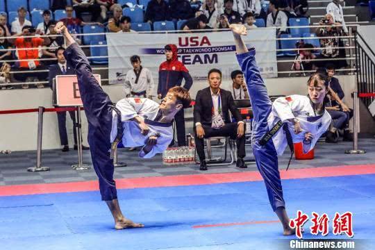 世界跆拳道品势世界杯开赛 情侣档为中国队夺首金