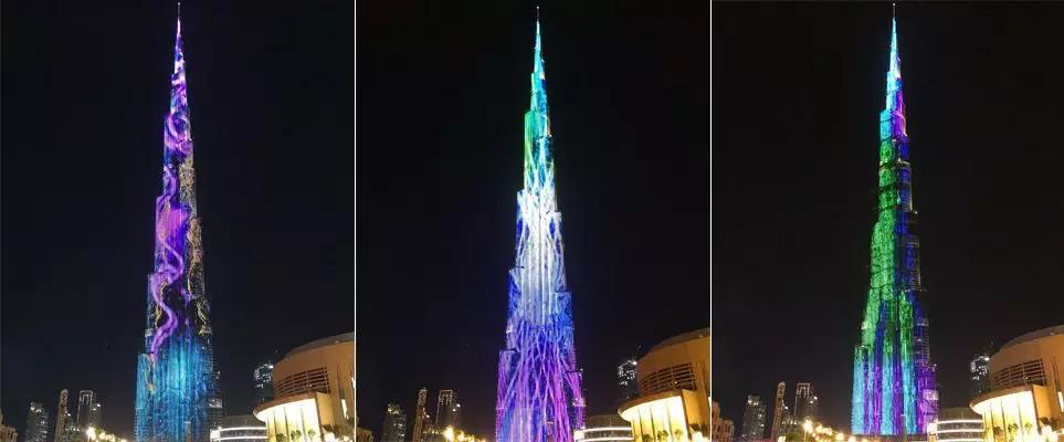 迪拜华人都好奇?在迪拜最高塔哈利法塔打一次广告要多少钱!