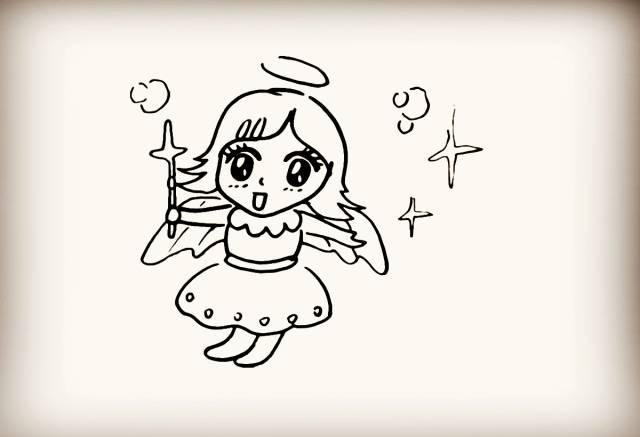 简笔画 小天使