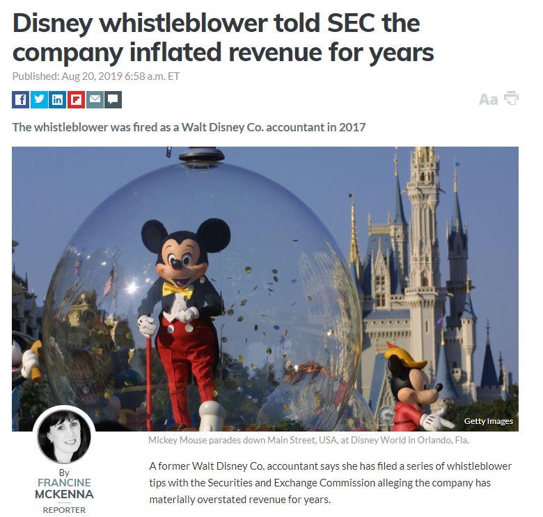 迪士尼涉财务造假,虚报收入十亿美元?童话梦要消失了!