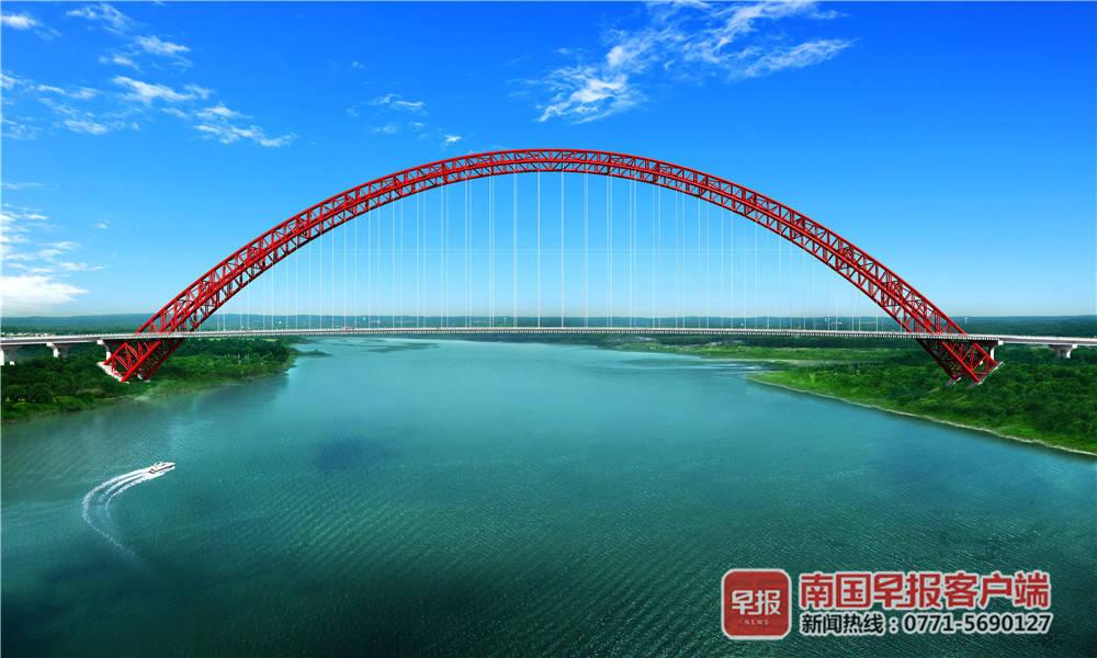 广西荔玉高速_好消息!广西这座桥建成后将是世界最大跨度的钢管拱桥_三桥