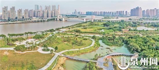 绿意更足 晋江南岸生态公园示范段景观基本完成