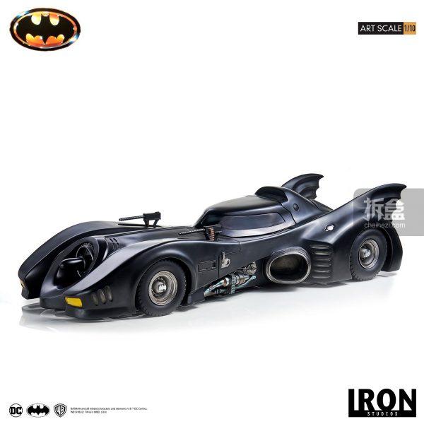 蝙蝠车iron studios dc电影1989版《蝙蝠侠》 batmobile蝙蝠车1:10