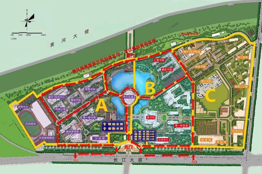 河南工学院校园平面图